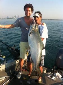 1st Salmon caught....35lber!!!!!